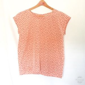 Abercrombie & Fitch Women's Pink Polka Dot Blouse